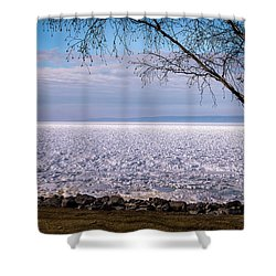 The Front Is Coming Shower Curtain by Onyonet  Photo Studios