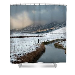 The Front Shower Curtain by Scott Warner