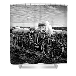 The Frozen Bike Shower Curtain