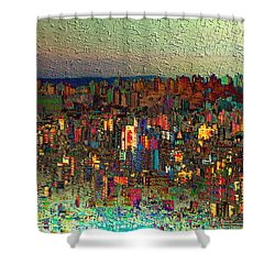 The Fun Side Of Town Shower Curtain