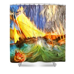 The Fury Shower Curtain by Jack Torcello