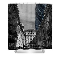 The Future Behind The Past Shower Curtain