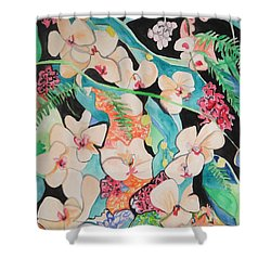 The Gallery Of Orchids 1 Shower Curtain by Esther Newman-Cohen