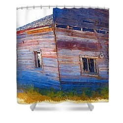 Shower Curtain featuring the photograph The Garage by Susan Kinney