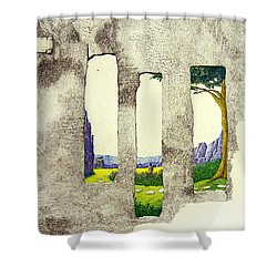 The Garden Shower Curtain by A  Robert Malcom