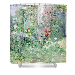 The Garden At Bougival Shower Curtain by Berthe Morisot