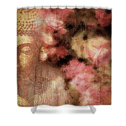 The Garden Buddha 1 Shower Curtain