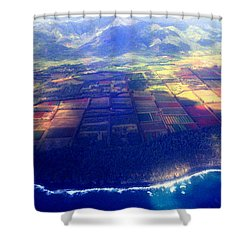 The Garden Isle Shower Curtain by Kevin Smith