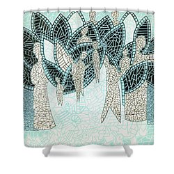 The Garden Of Eden Shower Curtain by Reb Frost