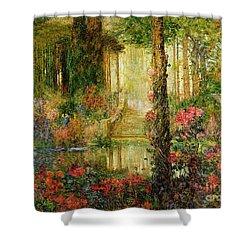 The Garden Of Enchantment Shower Curtain by Thomas Edwin Mostyn