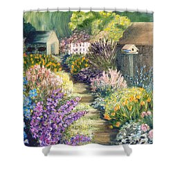 The Garden Path Shower Curtain by Renate Nadi Wesley