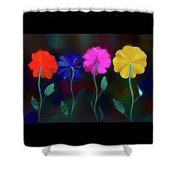 Shower Curtain featuring the photograph The Garden by Paul Wear