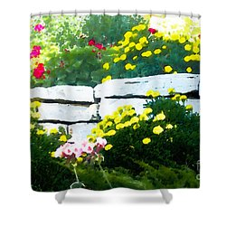 The Garden Wall Shower Curtain by David Blank