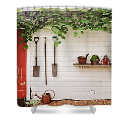 The Garden Wall Shower Curtain by Heidi Hermes