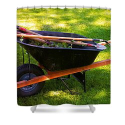 The Gardener Shower Curtain by Bob Pardue