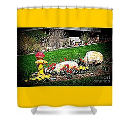 The Gardener Shower Curtain by Richard W Linford