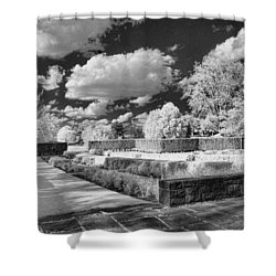 The Gardens In Ir Shower Curtain by Michael McGowan