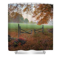Shower Curtain featuring the photograph The Gate by Bill Wakeley