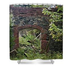 The Gate Into Nothingness Shower Curtain