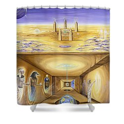 The Gate Keeper Shower Curtain by Teresa Gostanza
