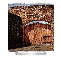 The Gate To The San Jose Mission Shower Curtain