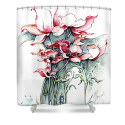 Shower Curtain featuring the painting The Gateway To Imagination by Anna Ewa Miarczynska