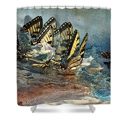 The Gathering Shower Curtain by Kathy Russell
