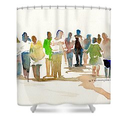 The Gathering Shower Curtain