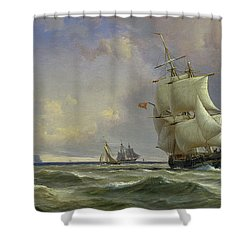 The Gathering Storm Shower Curtain by Anton Melbye