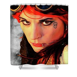 The Gaze Of Steam Punk Vixen Shower Curtain