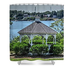 Shower Curtain featuring the photograph The Gazebo by Tom Prendergast