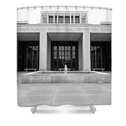 The George W. Bush Presidential Library And Museum  Shower Curtain by Robert Bellomy