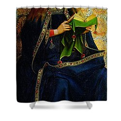 The Ghent Altarpiece The Virgin Mary Shower Curtain by Jan and Hubert Van Eyck