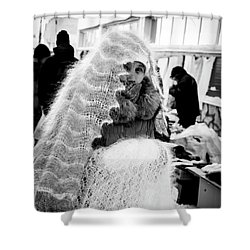 Shower Curtain featuring the photograph The Ghost by John Williams