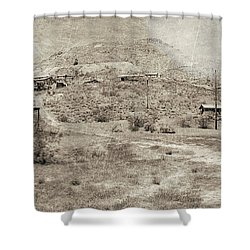 The Ghost Town Shower Curtain