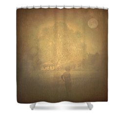 The Ghost Turns Away Shower Curtain