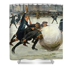 The Giant Snowball Shower Curtain by Jean Mayne