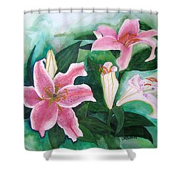 Shower Curtain featuring the painting The Gift by Margaret Bobb