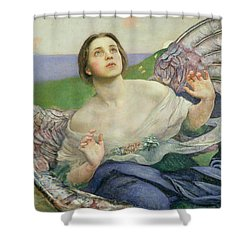 The Gift Of Sight Shower Curtain by Annie Louisa Swynnerton
