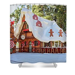 The Gingerbread House Shower Curtain by Eddie Yerkish