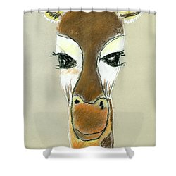 The Giraffe Shower Curtain