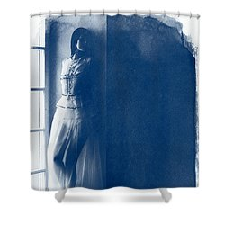 The Girl At The Window. Shower Curtain