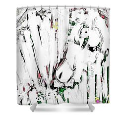 The Girl With Lambs Shower Curtain
