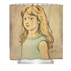 The Girl With The Golden Hair Shower Curtain