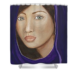 The Giver Shower Curtain by JoDee Luna