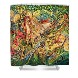 The Glade Shower Curtain by Elena Kotliarker