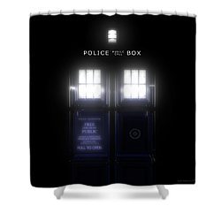 The Glass Police Box Shower Curtain