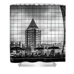 Shower Curtain featuring the photograph The Glass Windows Of The Market Hall In Rotterdam by RicardMN Photography