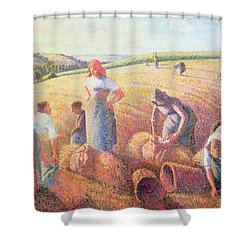 The Gleaners Shower Curtain by Camille Pissarro