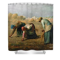 The Gleaners Shower Curtain by Jean Francois Millet